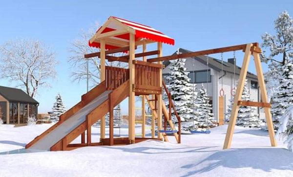 Детская площадка из дерева Савушка 4 сезона — 3_1