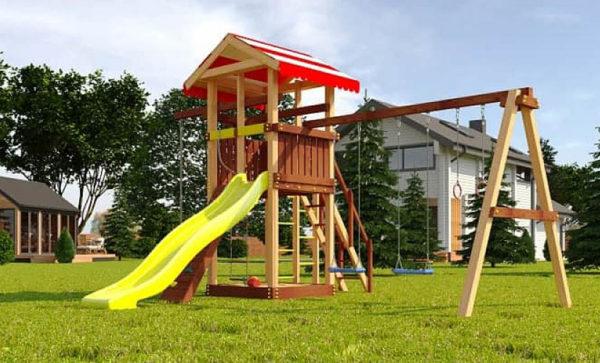 Детская площадка из дерева Савушка 4 сезона — 3_2