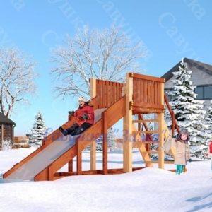 Зимняя деревянная игровая горка Савушка «Зима» — 2