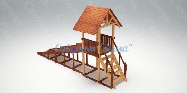 Зимняя деревянная игровая горка Савушка «Зима» — 5_3