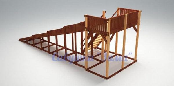 Зимняя деревянная игровая горка Савушка «Зима» — 6_4