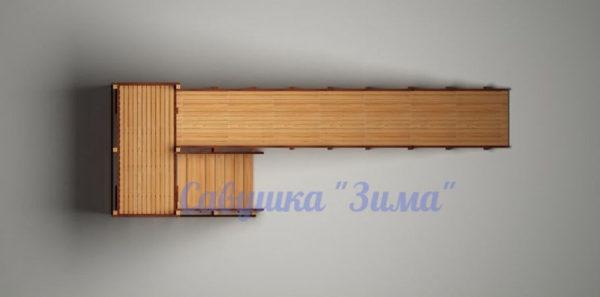 Зимняя деревянная игровая горка Савушка «Зима» — 6_5