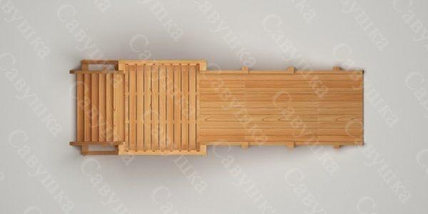 Зимняя деревянная игровая горка Савушка «Зима wood» — 1_4