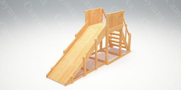 Зимняя деревянная игровая горка Савушка «Зима wood» — 2