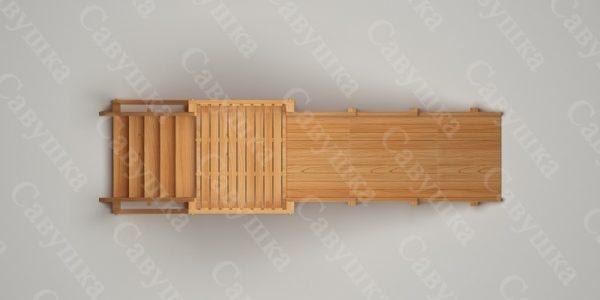 Зимняя деревянная игровая горка Савушка «Зима wood» — 2_3