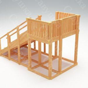 Зимняя деревянная игровая горка Савушка «Зима wood» — 3_1