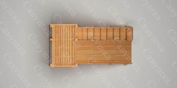 Зимняя деревянная игровая горка Савушка «Зима wood» — 3_3