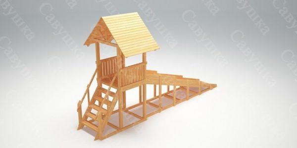 Зимняя деревянная игровая горка Савушка «Зима wood» — 5_2
