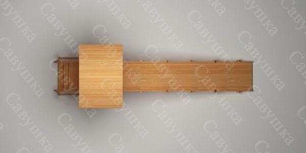 Зимняя деревянная игровая горка Савушка «Зима wood» — 5_4