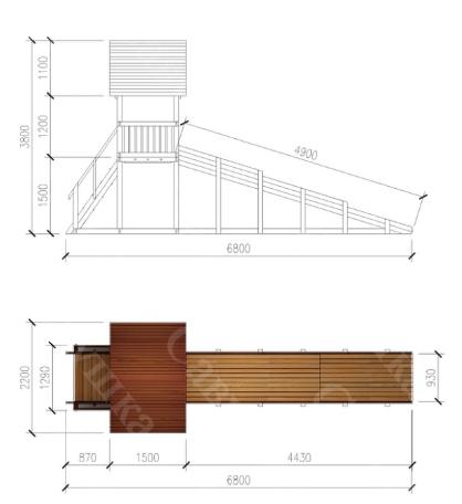 Зимняя деревянная игровая горка Савушка «Зима wood» — 5_5