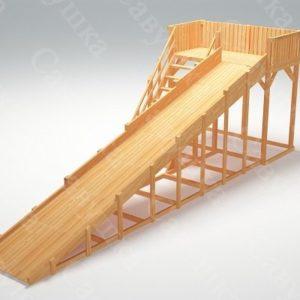 Зимняя деревянная игровая горка Савушка «Зима wood» — 6_1