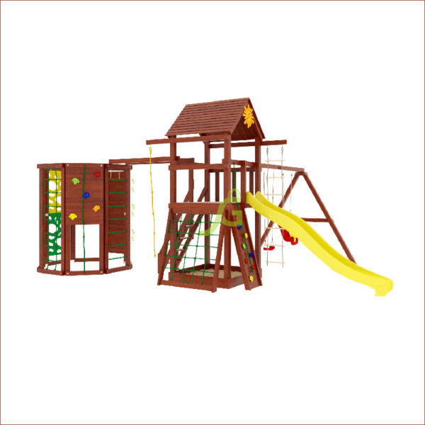 Детская площадка IgraGrad Панда Фани Gride с WorkOut1