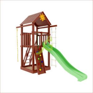 Детская площадка IgraGrad Панда Фани Tower скалодром1