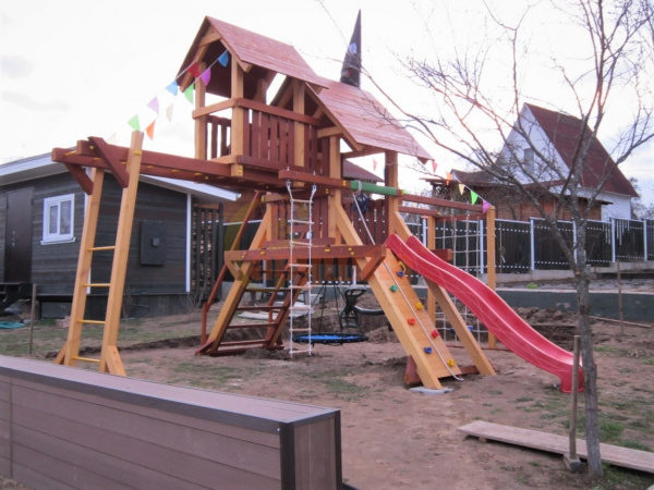 Детская площадка Савушка Люкс 10 фото