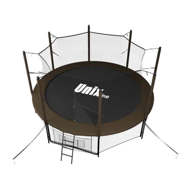 Батут UNIX line Black&Brown 10 ft (inside)4