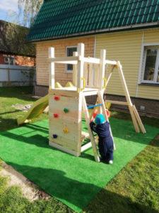 Детская площадка Савушка Мастер 6 с качелями фото1