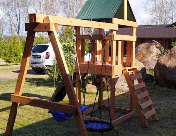 Детская игровая площадка Babygarden Play 1 с качелями-гнездо 0.6м._1