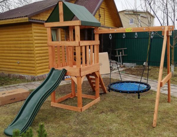 Детская игровая площадка Babygarden Play 1 с качелями-гнездо 1 м._1