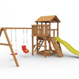 Детская площадка для дачи Барни окрашенная