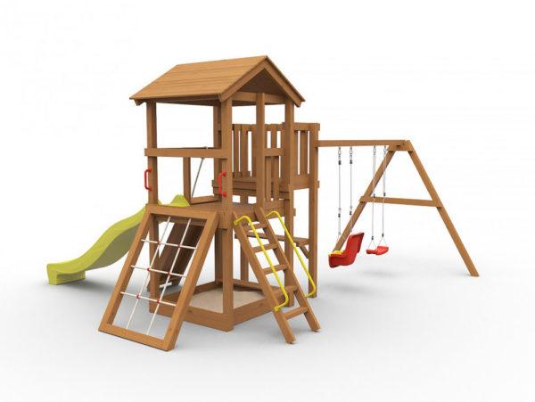Детская площадка для дачи Барни окрашенная_1