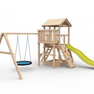Детская площадка для дачи Барни с гнездом