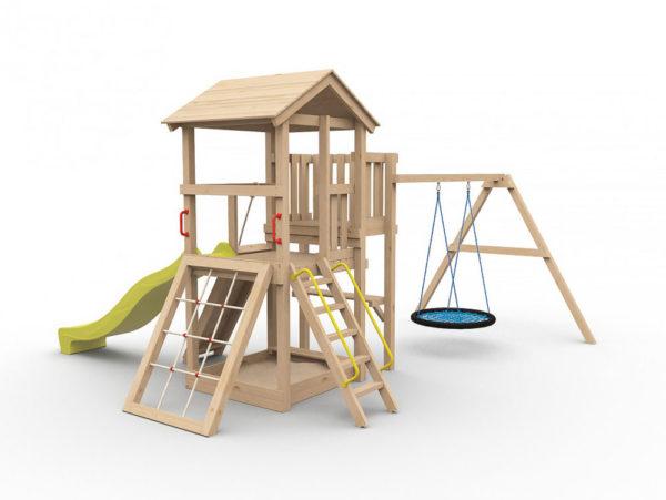 Детская площадка для дачи Барни с гнездом_1