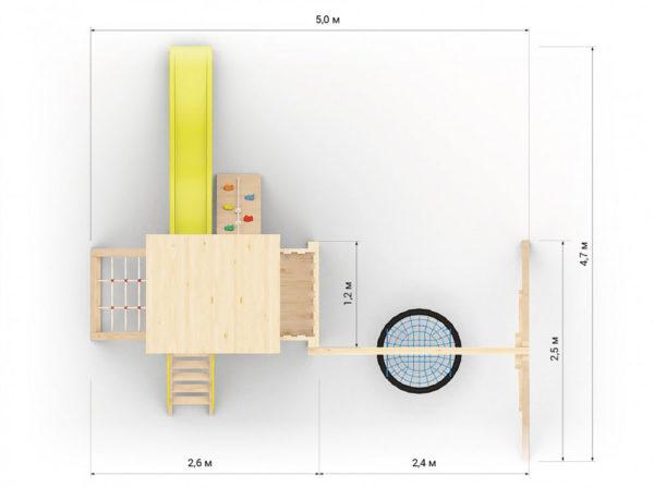 Детская площадка для дачи Барни с гнездом_2