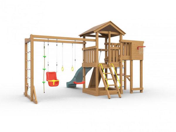 Детская площадка для дачи Лео макси окрашенная_1