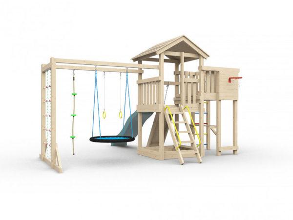 Детская площадка для дачи Лео макси с гнездом