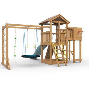Детская площадка для дачи Лео макси с гнездом окрашенная