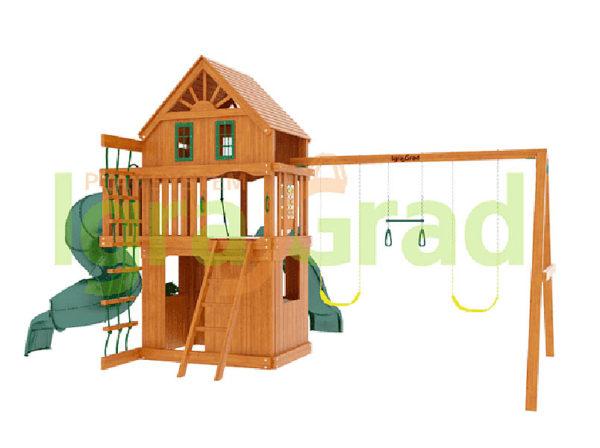 Детская площадка IgraGrad Шато 2 с трубой (Домик)_1