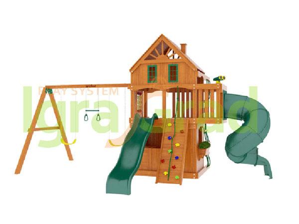 Детская площадка IgraGrad Шато 2 с трубой (Домик)_2
