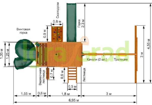 Детская площадка IgraGrad Шато 2 с трубой (Домик)_3