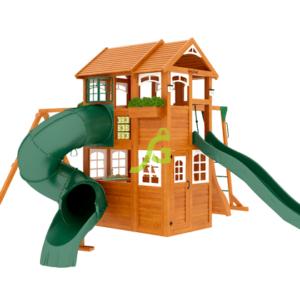 IgraGrad Клубный домик 2 с трубой и рукоходом Luxe