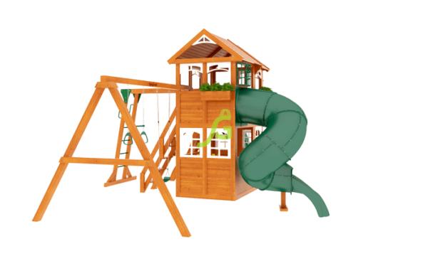IgraGrad Клубный домик 2 с трубой и рукоходом Luxe_1