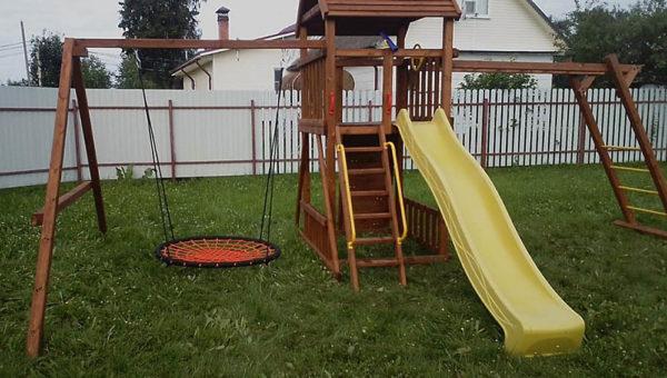 Детская площадка Африка с рукоходом качели-гнездо 1м_1