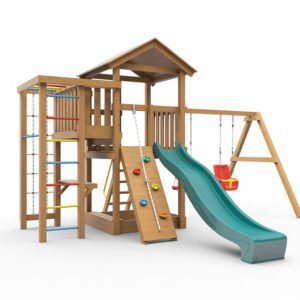 Детская площадка для дачи Лео окрашенная