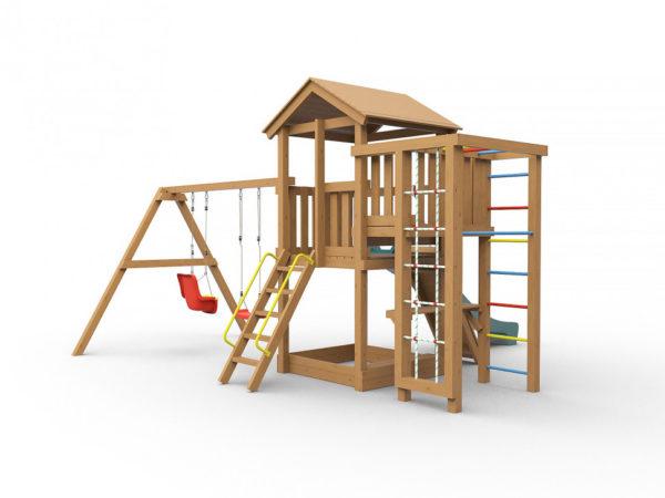 Детская площадка для дачи Лео окрашенная_2